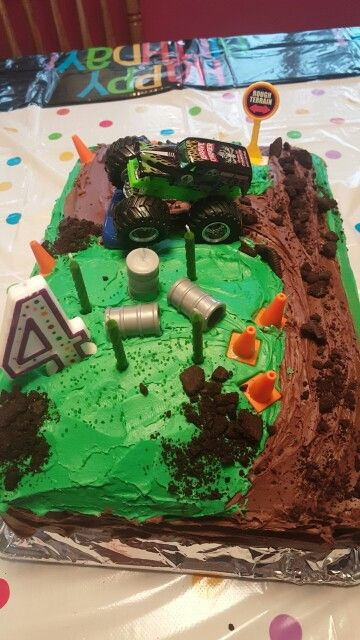 Strange Toddler Grave Digger Cake I Made Monster Trucks Birthday Party Funny Birthday Cards Online Alyptdamsfinfo