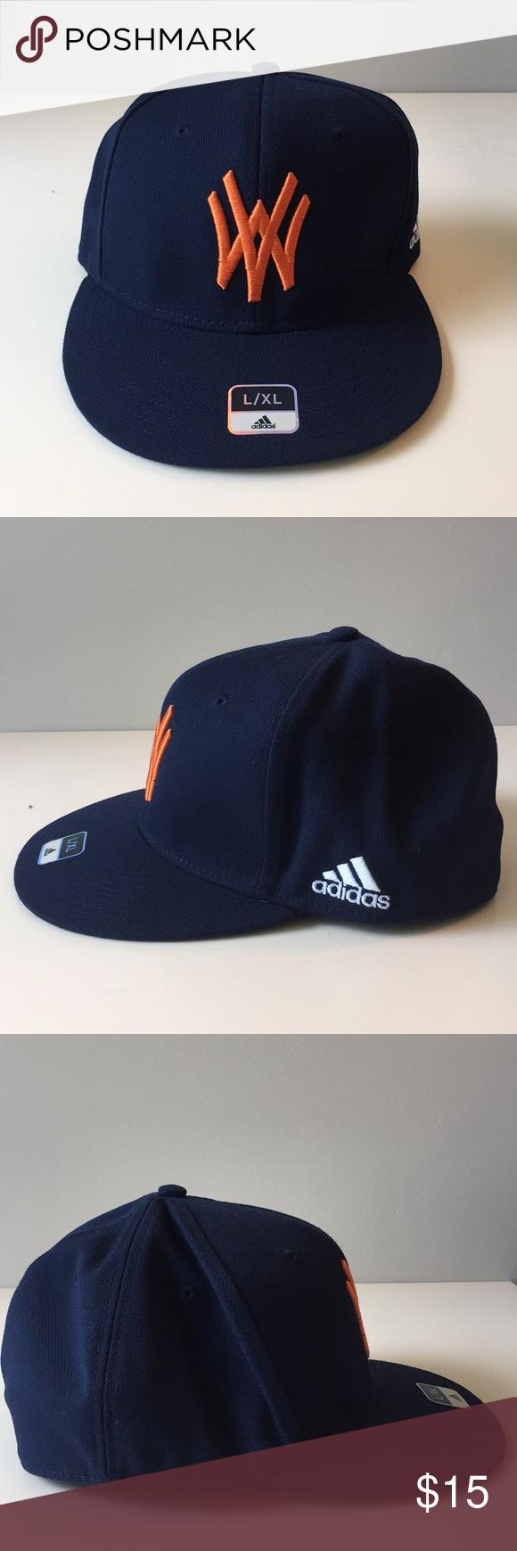 Nwot Adidas West Virginia Baseball Cap L Xl Clothes Design Fashion Design Blue Adidas
