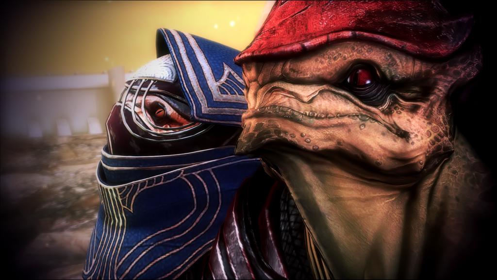 Mass Effect 3 ~ Eve & Wrex by celyntheraven.deviantart.com on @deviantART