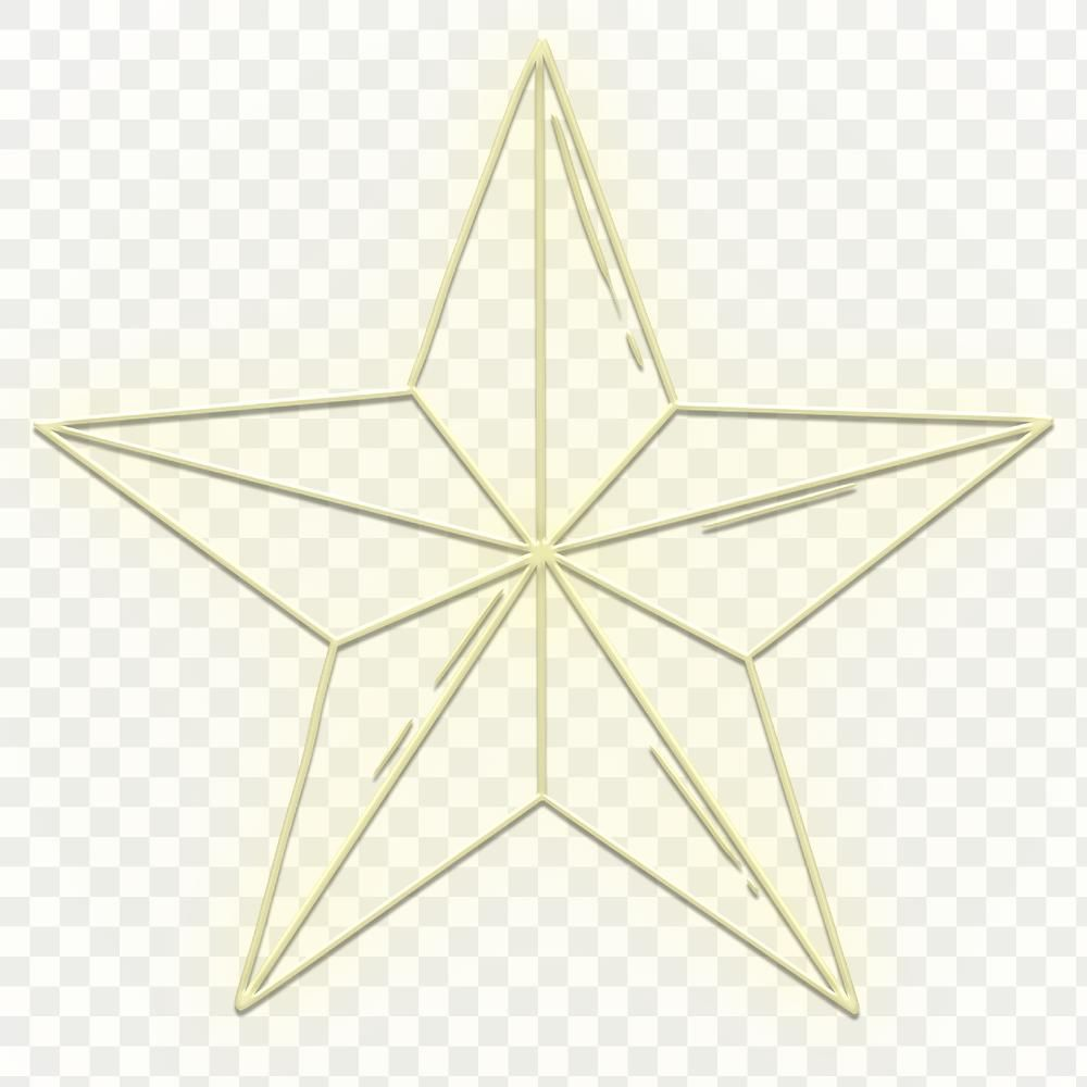 Yellow Neon Star Icon Design Element Free Image By Rawpixel Com Katie