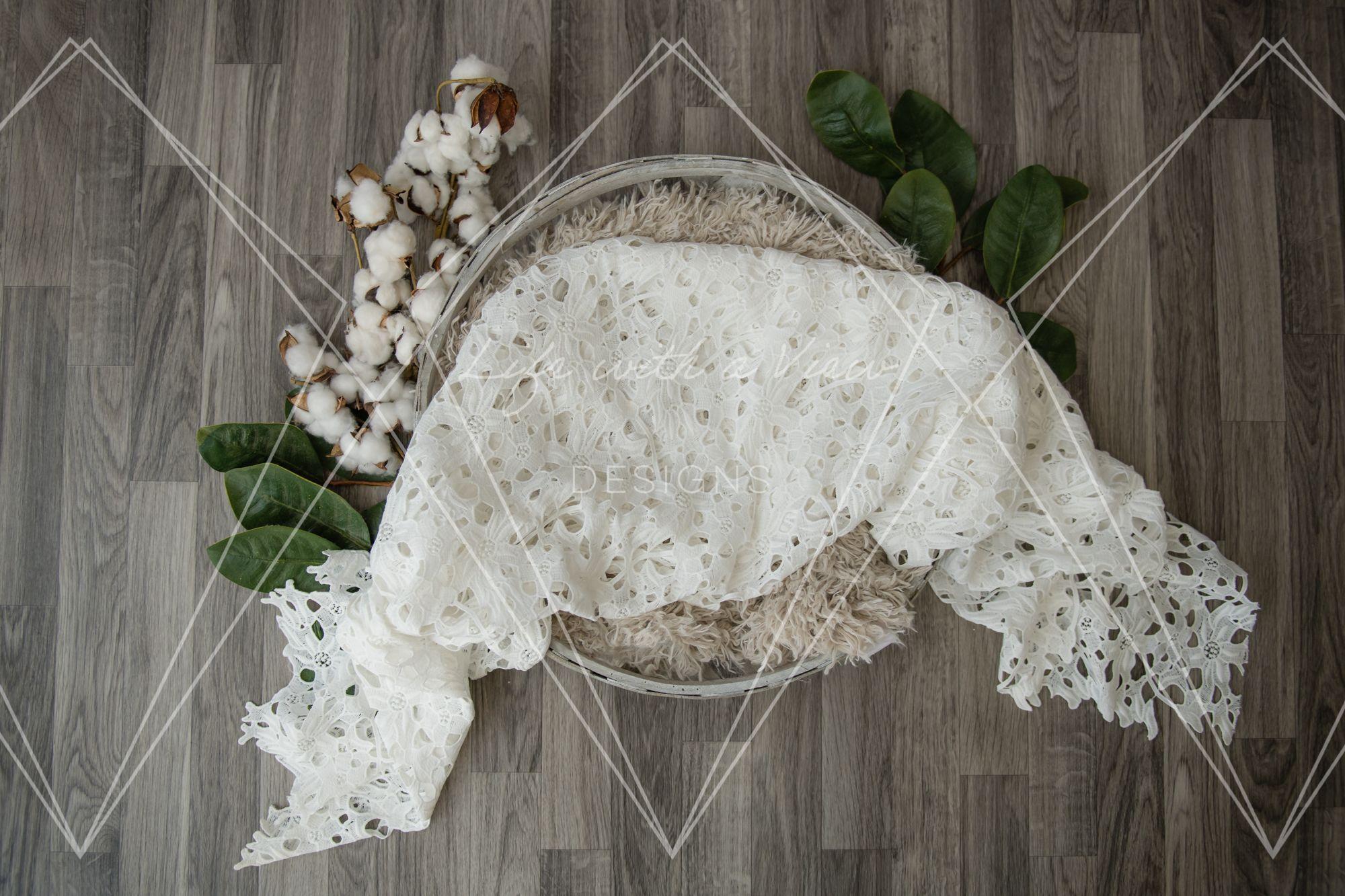 Cotton, Lace, Farmhouse Inspired Newborn Digital Backdrop, Digital Newborn Background