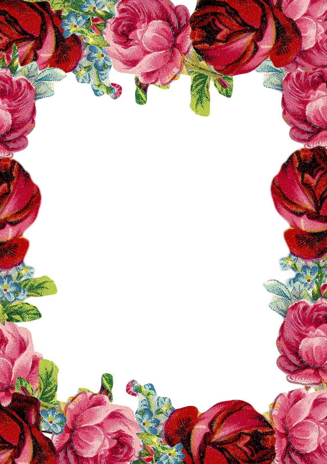 Free printable vintage rose stationery ausdruckbares