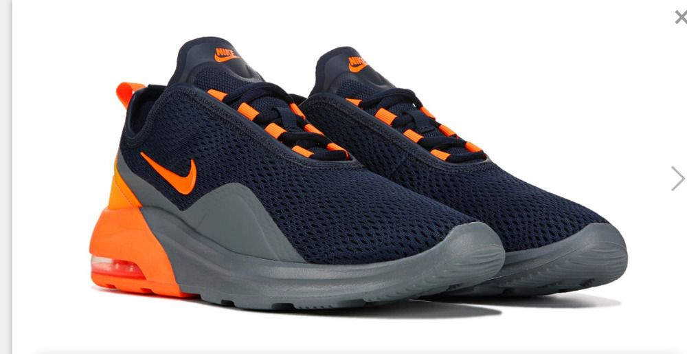 Nike Air Max Motion 2 Running Shoe navy blue Orange men's 9 ...