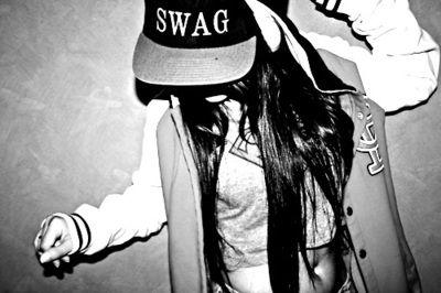 Snapbackgirl Swag Black And White Street Fashion Superman Cool Beautiful Hiphop Girl Cute