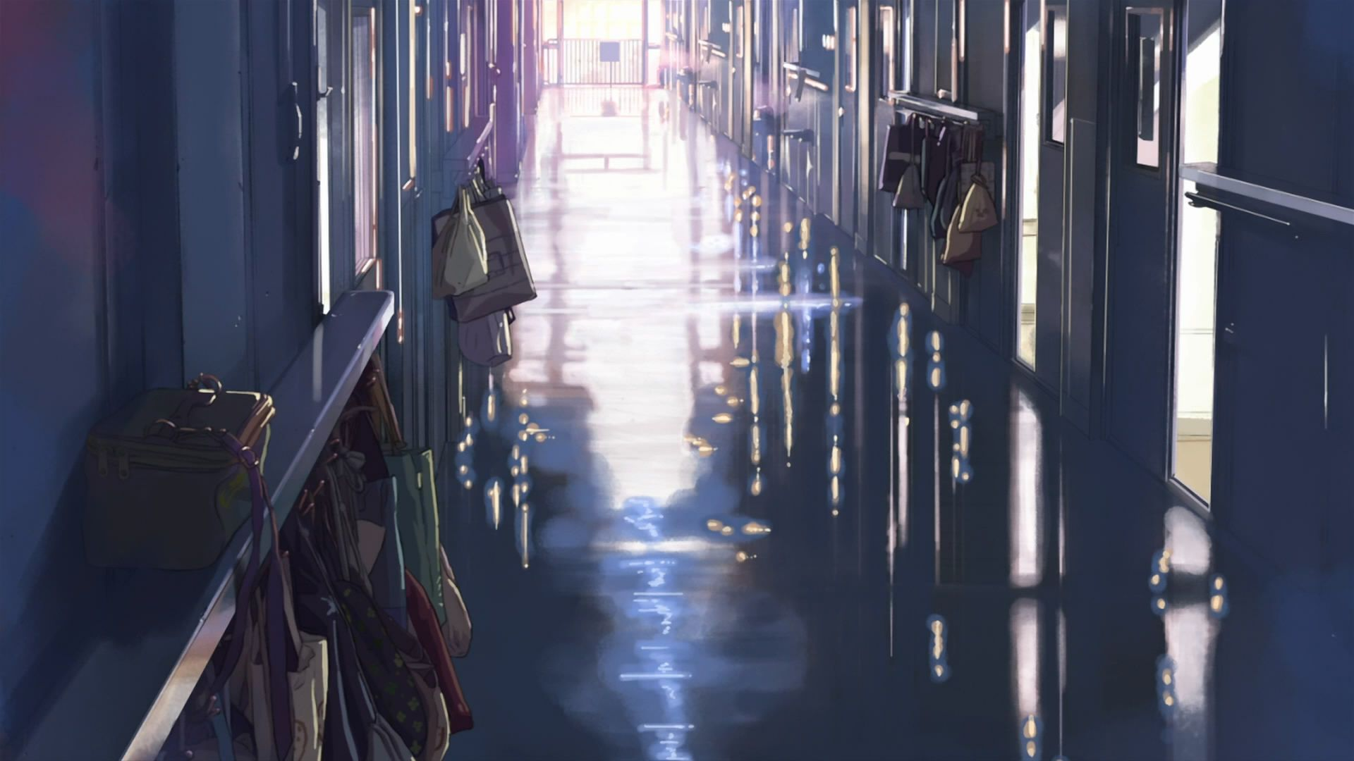School Makoto Shinkai Hallway 5 Centimeters Per Second Hd