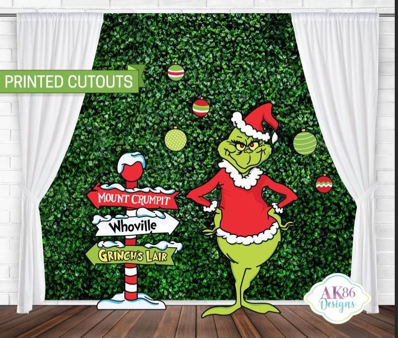The Grinch Cutouts The Grinch Birthday Backdrop The Grinch