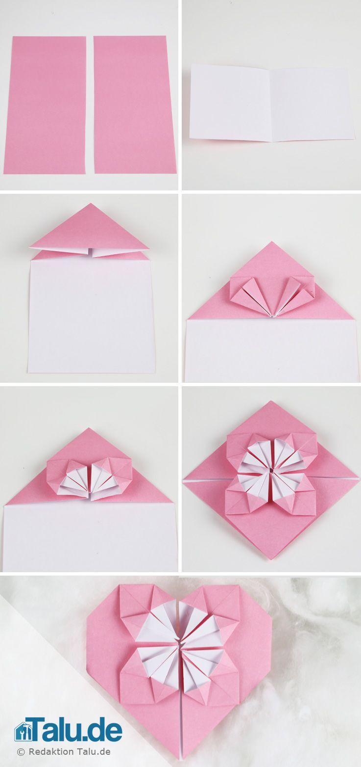 origami herz aus papier falten anleitung diy ideen basteln und gestalten origami herz. Black Bedroom Furniture Sets. Home Design Ideas