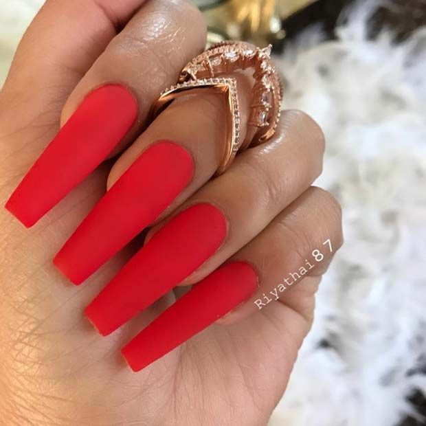 21 Matte Coffin Nails You Need To Try Right Now Coffin Nails
