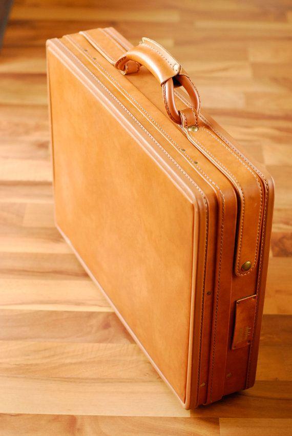 085975ae64 Vintage Leather Hartmann Case Briefcase NOS Caramel Honey Camel Brown on  Etsy
