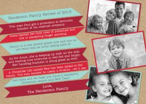 Mixbook Year in Review Ribbons Holiday Photo Cards