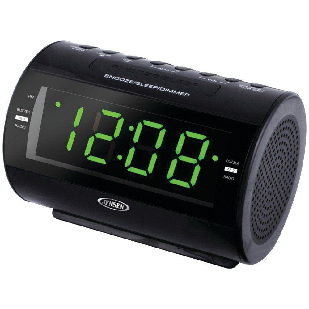 Dual Alarm Clock Preset 10AM//FM Radio Big LED Display Digital Time Snooze Music