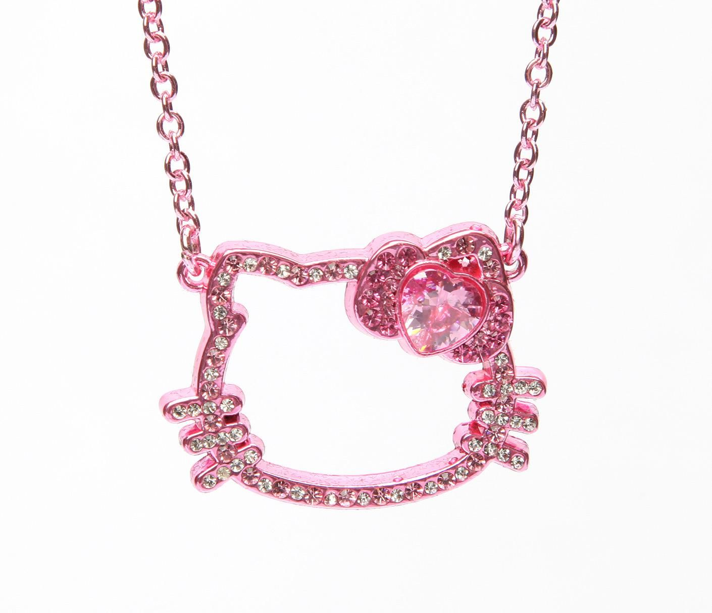 Hello kitty face necklace pink gold in new cool new arrivals at hello kitty face necklace pink gold in new cool new arrivals at sanrio mozeypictures Image collections