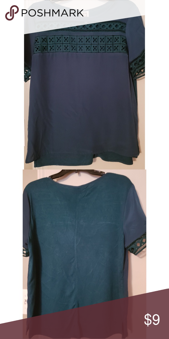 749f646081 Anne Klein Forest Green Blouse Used. Good condition Anne Klein Tops Blouses