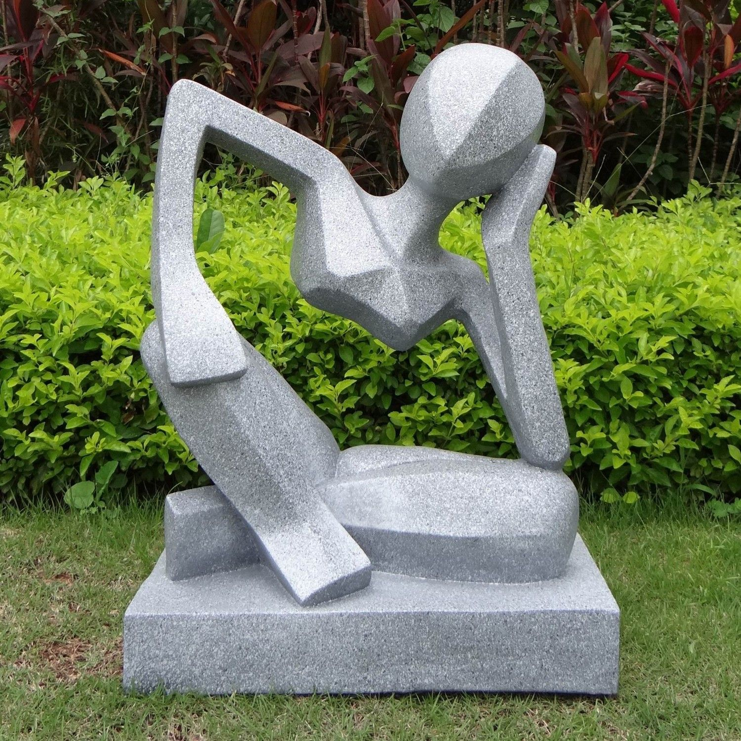 contemporary garden art large garden sculptures. Black Bedroom Furniture Sets. Home Design Ideas