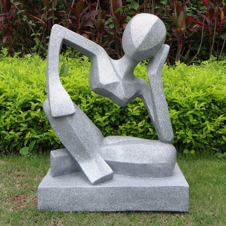 Contemporary garden art large garden sculptures reflection modern contemporary statue design - Gartenskulpturen metall ...