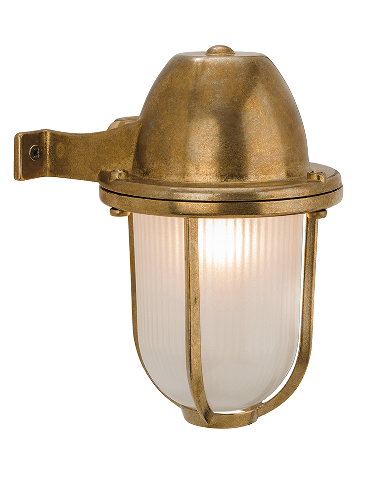 Made from weighty solid brass with a ribbed glass middle our made from weighty solid brass with a ribbed glass middle our nautical inspired harbour wall light is a stylish way to brighten up your outside space workwithnaturefo
