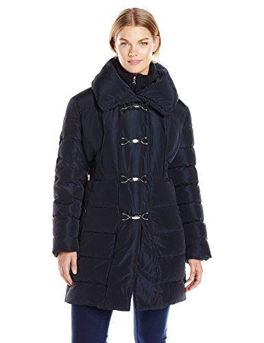 80953c6faf0 Jessica Simpson Women s Plus-Size Mid-Length Down Coat with Clasp Closure