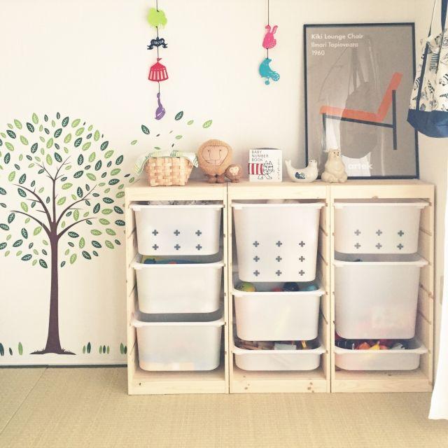 213f49600e おもちゃ収納のアイデアとコツ50選 | RoomClip mag | 暮らしとインテリアのwebマガジン