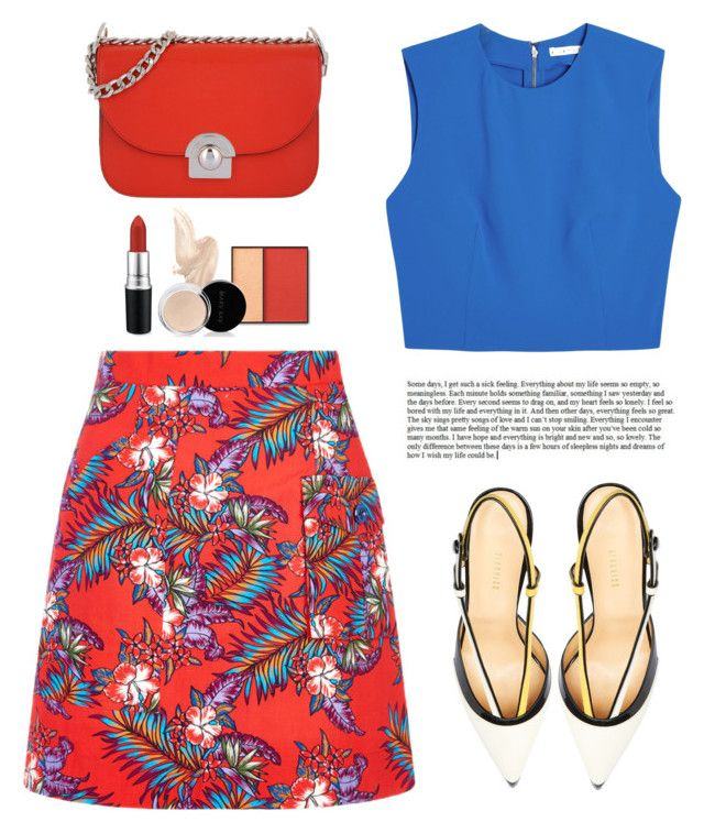 ... by yexyka on Polyvore featuring polyvore, fashion, style, Alice + Olivia, House of Holland, Giannico, Prada, MAC Cosmetics and clothing