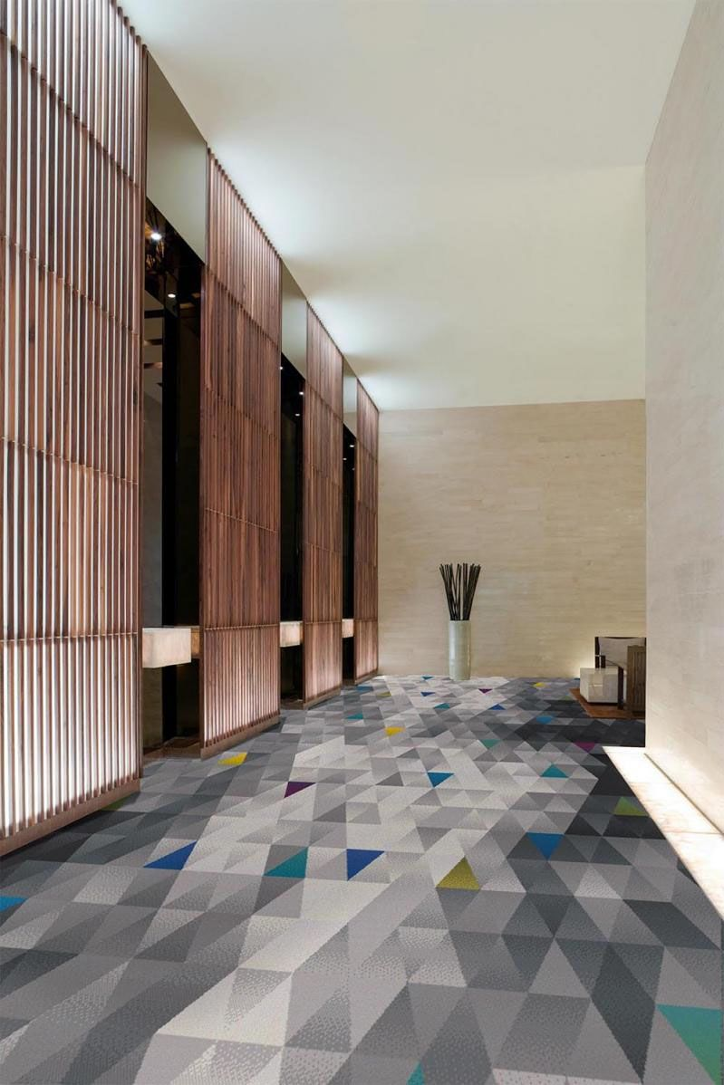 Brintons lauch a new carpet range using their technically advanced 36 colour axminster looms