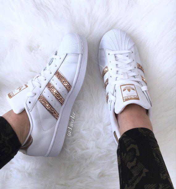 Originales de Adidas Superstar blanco/rosa de oro con ...