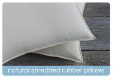 Serenity Natural Shredded Rubber Pillow