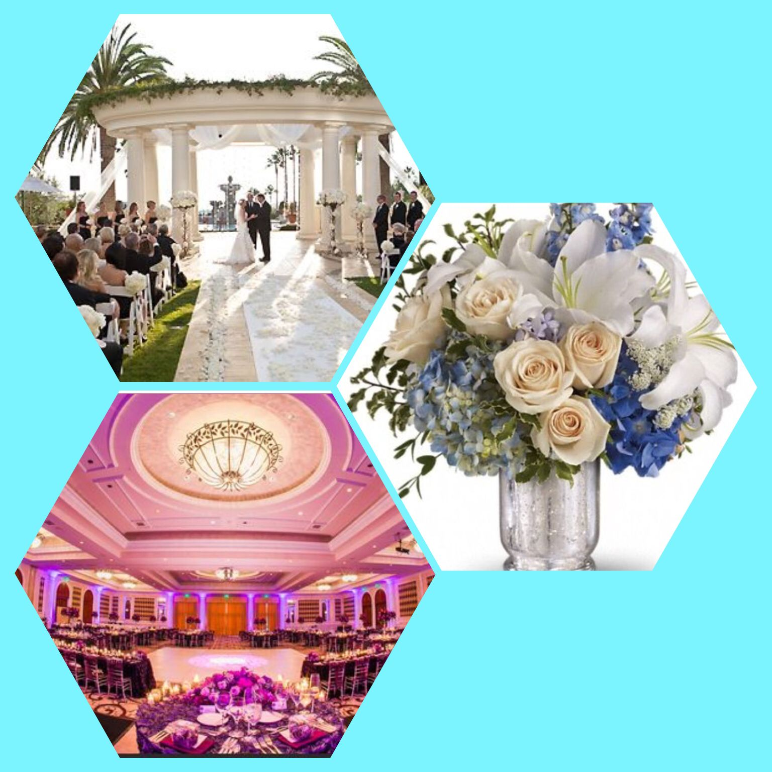 Ceremony Is Outside And Reception Is In A Banquet Hall