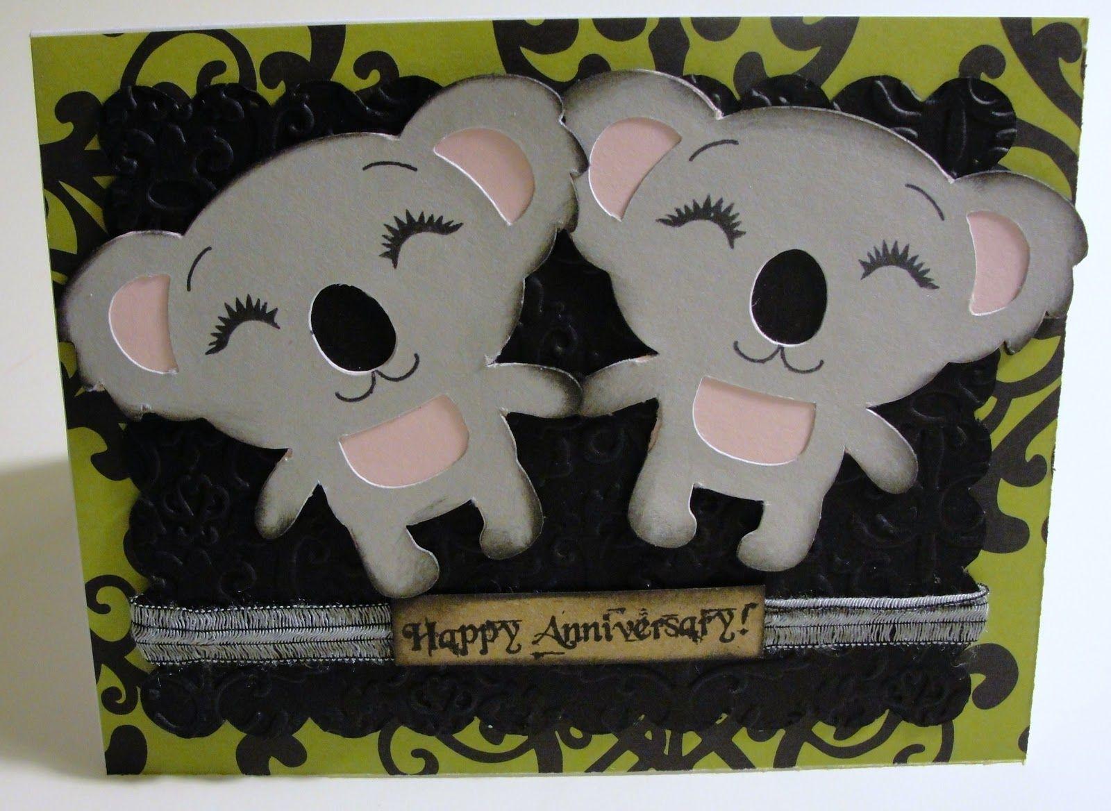 41 Koala Anniversary Cricut Anniversary Card Anniversary Cards Happy Anniversary