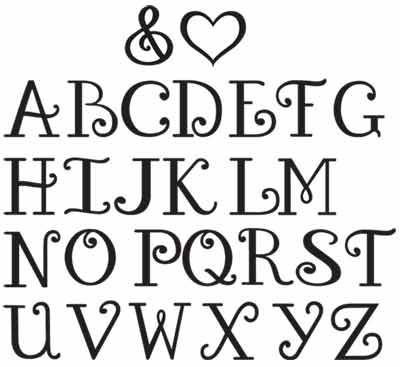 This is a photo of Fonts Printable within lettering