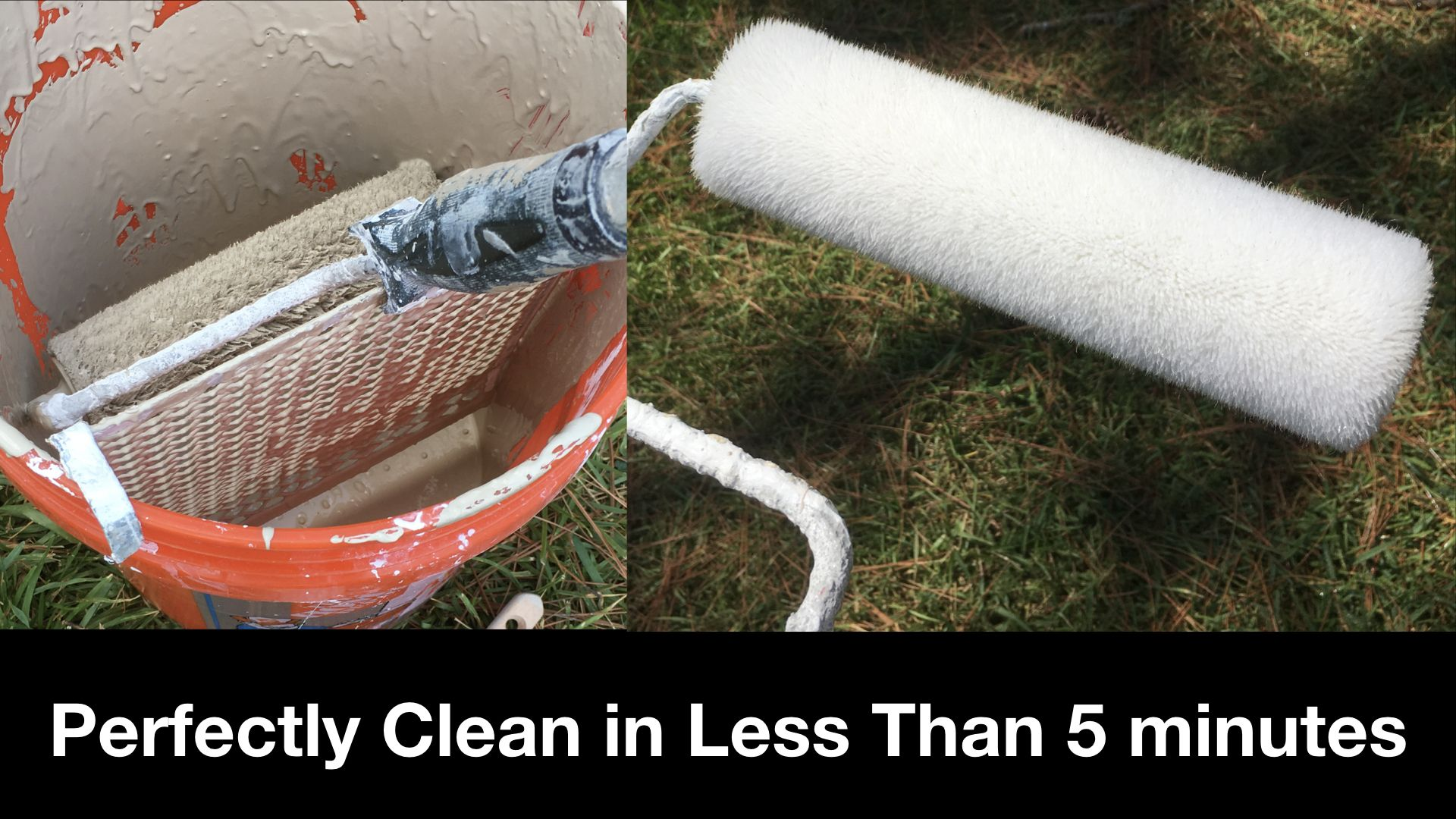 How To Clean A Paint Roller In Less Than 5 Minutes The Quick Way To Clean A Paint Roller Www Daileywoodworks Com Paint Roller Cleaning Roller