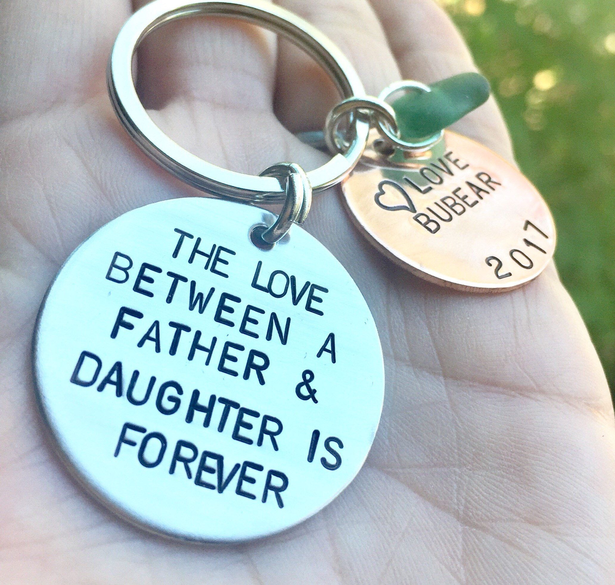 Christmas gifts love between a father and daughter is