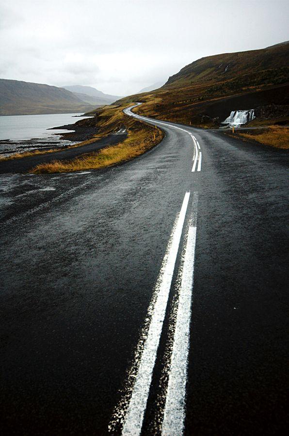 Long winding road  (iceland) by   João Almeida