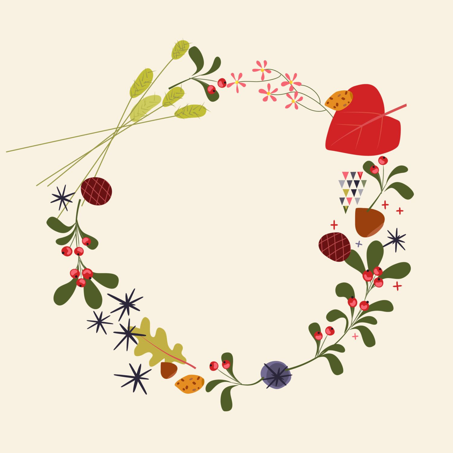 vintage christmas wreath - Google'da Ara | Vector + Design + Art ...