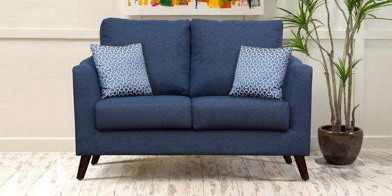 Felix Two Seater Sofa In Blue Colour By Peachtree Seater Sofa