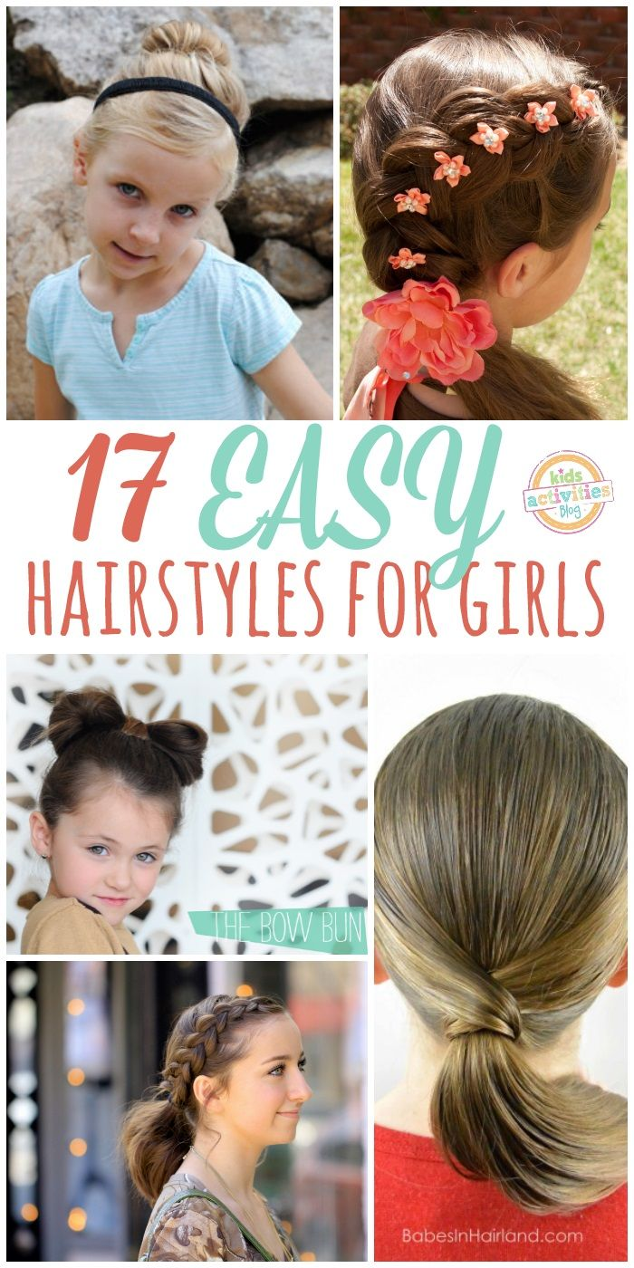 lazy hair ideas for girls crafts and ideas pinterest girl