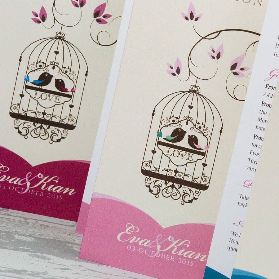 bird cage themed wedding invite - Google Search | wedding invites ...