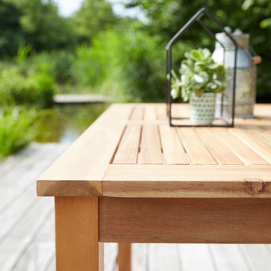 Salon de jardin en bois d\'acacia FSC gris 4 places HANOÏ en ...