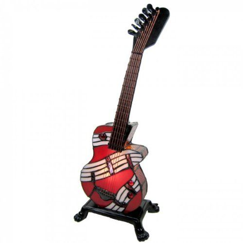 Tiffany style electric guitar table lamp really cool odds and tiffany style electric guitar table lamp aloadofball Image collections