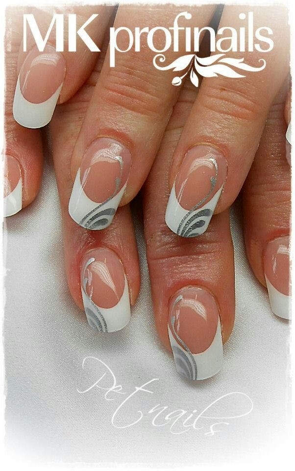 These are French tip nail extensions as oppose to the original clear extensio  These are French tip nail extensions as oppose to the original clear extensions