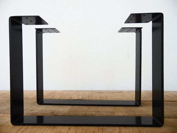 15 X21 Coffee Table Legs Flat Steel Powder Coated