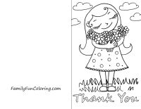 Printable Thank You Cards to Color   random craftiness   Pinterest ...