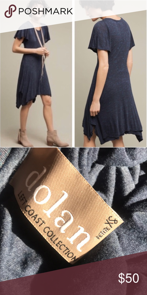 4cda54a43b9b Anthro Dolan Melanie Knit Blue Swing Dress Relaxed and cute Knit dress in a  navy blue