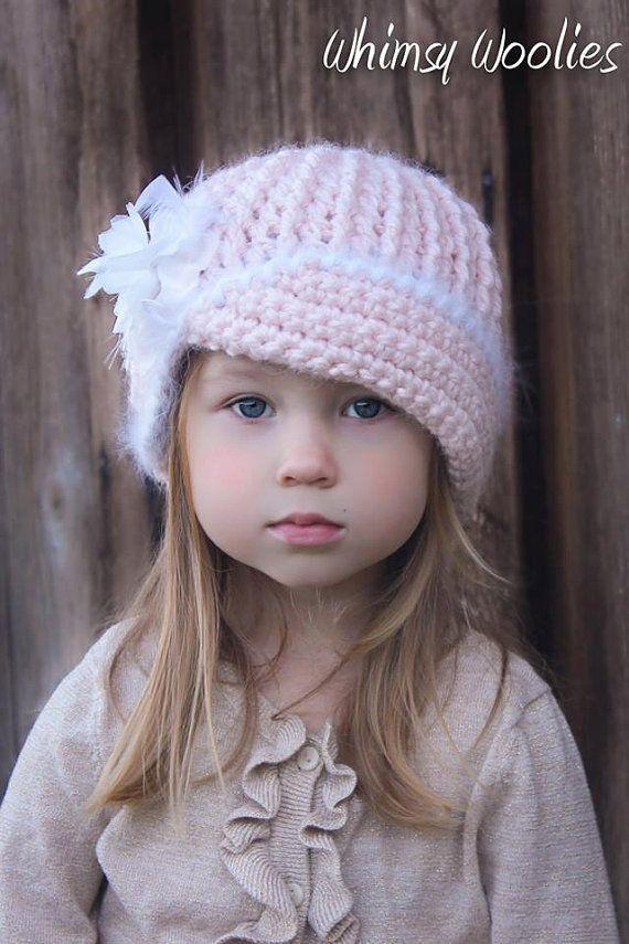 CROCHET HAT PATTERN: Crochet Beret, Crochet Flower, Winter ...