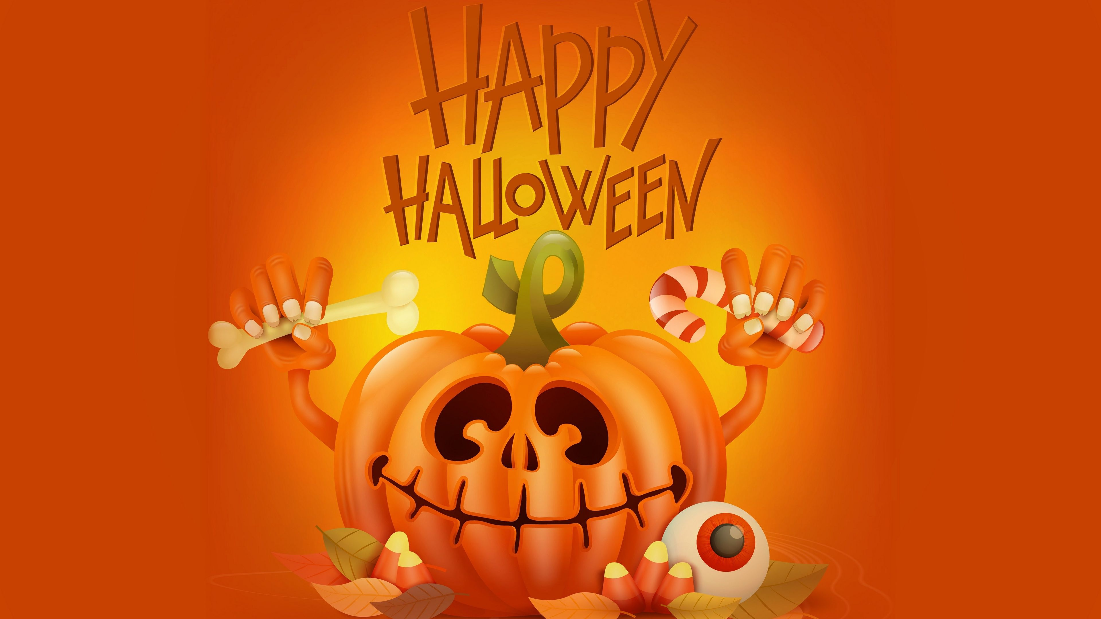 4k Happy Halloween Pumpkin Wallpapers Holidays Wallpapers Hd Wallpapers Halloween Wallpapers Celebr Pumpkin Wallpaper Holiday Wallpaper Halloween Wallpaper