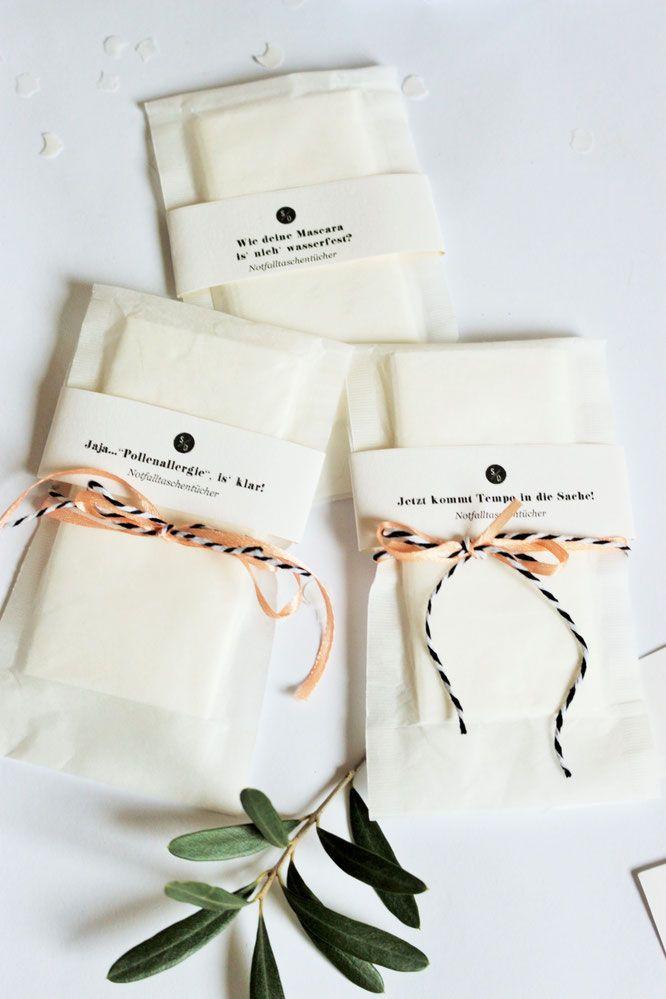 Diy Freudentranen Taschentucher Schnell Gunstig Einfach Und Kreativ Aus Teefilter Und Banderole Selber Machen Taschentucher Hochzeit Freudentranen Taschentucher Freudentranen