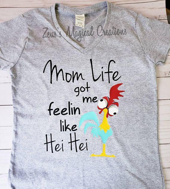 b72abaa4 Mom gift Mom life got me feeling like Hei Hei Moana Disney | Disney ...