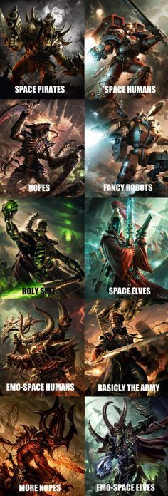 40k factions according to non-believers