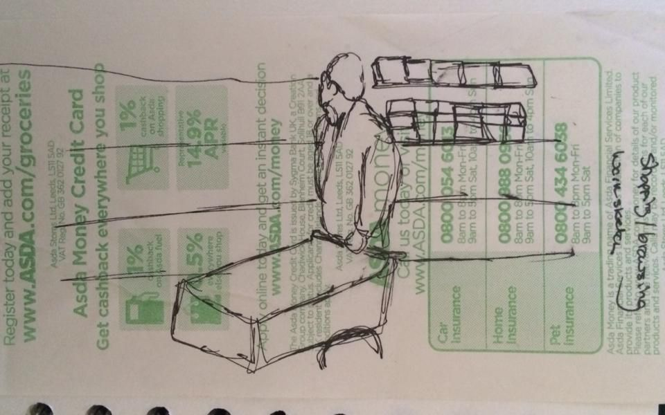 Work Sketch Of Shopper With Images Credit Card Cards Sketches