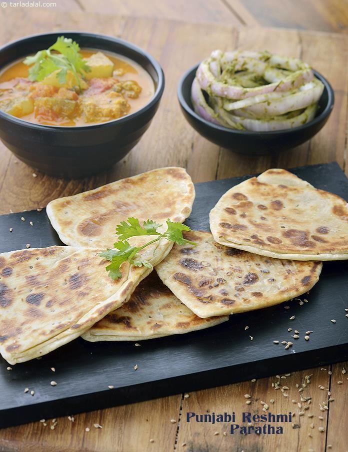 punjabi reshmi paratha recipe by tarla dalal tarladalal com 41404