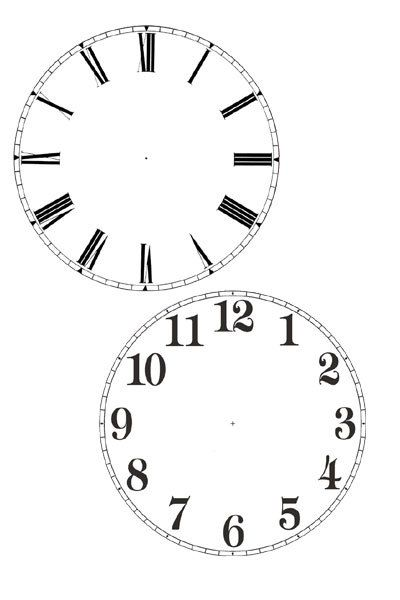 cd clock,printable clock face